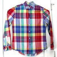 Medium (M) TOMMY HILFIGER Checkered Button Up Long Sleeve Shirt - Retro Top