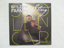 """MAXI 45T MYLENE FARMER & STING """"Stolen car - Remixes 2"""" POLYDOR 476 816-6 NEUF §"""