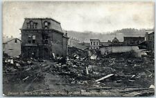 "1915 Johnstown, Pennsylvania Postcard ""Locust to Main Street - Flood of 1889"""