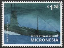 WWI Royal Navy HMS E5 E-Class Vickers Submarine Stamp (2015 Micronesia)