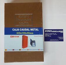 Caja de caudales de metal, diccionario español, metal, 235 x 155 x 55 mm, nuevo.