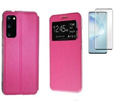Funda Samsung Galaxy S20 ROSA Libro ventana + Cristal Completo 3D Cubre todo