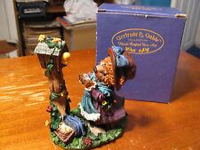 "Gertrude B. Gable Hand Crafted ""Garden-Girl Bear/Red Hat"" Figurine"