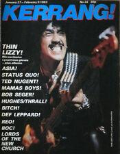 Kerrang Magazine Thin Lizzy Phil Lynott Ted Nugent Def Leppard No34 1983