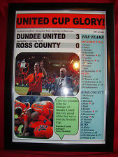 Dundee United 3 Ross County 0 - 2010 Scottish Cup final - framed print