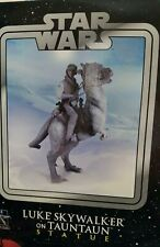 Star Wars Gentle Giant Luke Skywalker on TaunTaun Statue Rare  Promo New