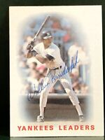 Willie Randolph Signed Autographed 1986 Topps Leaders Card - NY Yankees Capt.