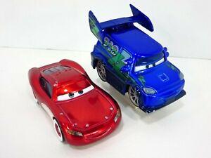 Disney Pixar Cars Ransburg Metallic Paint DJ & Cruisin McQueen Diecast Chase