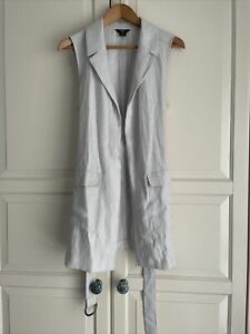 F&F Sleeveless Ladies Jacket With Belt Size 12
