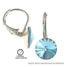 Pendientes Con Elementos Swarovski, color: AGUAMARINA, Azul