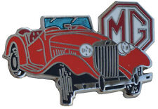 MG TD MGTD car cut out lapel pin - Red