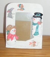 Snowman Snowmen with Animals Picture Frame
