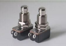 2 X Guitar foot switches push to make momentary action heavy duty foot switch
