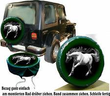 Schimmel Hengst Pferd  Auto SUV Jeep Truck Caravan Reserveradabdeckung Bezug