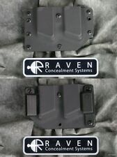 NEW LEFT HAND RAVEN DOUBLE MAGAZINE MD CUT KYDEX HOLSTER for GLOCK 9 40 357