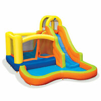 Banzai Sun 'N Splash Fun Kids Inflatable Bounce House & Water Slide Splash Park