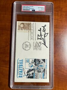 1ST DAY ISSUE COVER CACHET AUTOGRAPH AUTO SIGNED HOF 1961 PSA DNA BOB KNIGHT