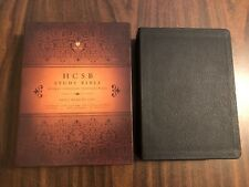 HCSB Holman Study Bible - Black Genuine Leather - $79.99 Retail