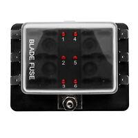 12V Hoja de 6 Vías Soporte Caja de fusibles LED de luces de advertencia Kit Car