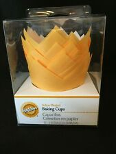 Yellow  Pleated Baking Cups from Wilton New Free Shipping