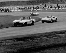 New! Vintage 8X10 Racing Photo Daytona 1964 Corvette, Porsche 904 & RS