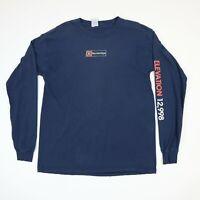 Destroyed Breckinridge Colorado T-Shirt MEDIUM Faded Distressed Grunge Long Slv