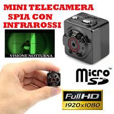 telecamera mini videosorveglianza registrazione su micro SD led infrarossi