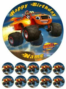Blaze and the Monster Machines Edible Cake Toppers Wafer or Icing
