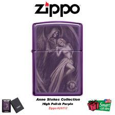 Zippo Anne Stokes Grim Reaper Skull Girl, High Polish Purple Lighter #29717