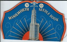 Bb-351 Vintage Woolworth Sewing Needle Book, Great Graphics, Advertising