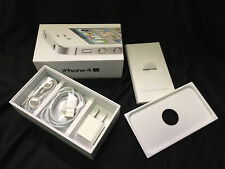 Retail Box for Apple iPhone 4S - With Charger, Usb Cable & Earphones - No Phone