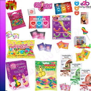 Suck Eat A Bag of Dicks Penis Pecker Pussy Boobs Gummy Candy Candies Party Gift