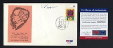 Yitzhak Navon signed cover PSA Authenticated 5th President of Israel