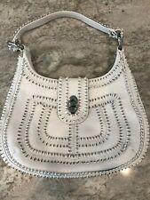 Isabella Fiore Leather Handbag in White