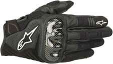 Alpinestars SMX-1 Air V2 Leather/Textile Riding Gloves (Black) L (Large)