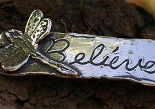 Artisan Sterling Silver Dragonfly Believe Bracelet Link -54