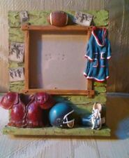 """Football Picture Frame 3.5x3.5"""" Photo Jersey Helmet Cleats"""