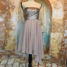 MINUET Sequin Blush Strapless Dress Size Small
