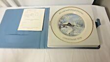 1978 American Water Color Society Artist Robert Laessig Christmas Plate-Boxed,Li