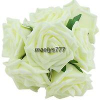 Rose  en mousse ivoire 7/8 cm.fleur artificielle.décoration de mariage.10pcs