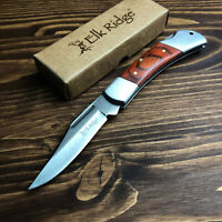 Elk Ridge Rich Wood Handle Folding Lockback Hunter Camp Pocket Knife 123