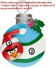 GRANDSON GAME ANGRY BIRD RED BIRD CARDINAL PERSONALIZED CHRISTMAS TREE ORNAMENT