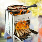 Wood Stove Pocket Cooking Folding Outdoor Burning Camping Picnic Stainless US photo