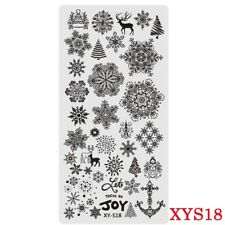 Nail Art Stamping Plates Image Plate Christmas Snowflakes Reindeers Trees XYS18