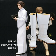 Star Wars Cosplay Princess Leia shoes Halloween White Long boots