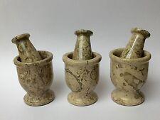Mortar And Pestle Coral Fossil Spice Herb Salt Pepper Grinder Mortar & Pestle.