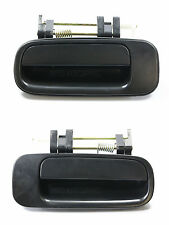 PAIR SET REAR Outside Door Handle Smooth Black for 92-96 Toyota Camry