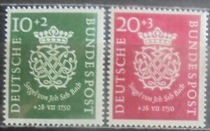 GERMANY (West) 1950 Death Bicentenary of Bach, Set of 2 MNH