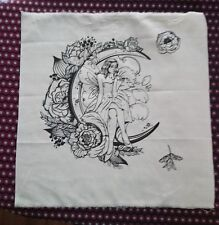 Beautiful Fantasy Fairy  Screen Printed Fabric Panel Make A Cushion Craft