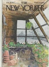 The New Yorker magazine ~COVER ONLY ~ GETZ ~ February Feb 28 1977 ~ Potting Shed